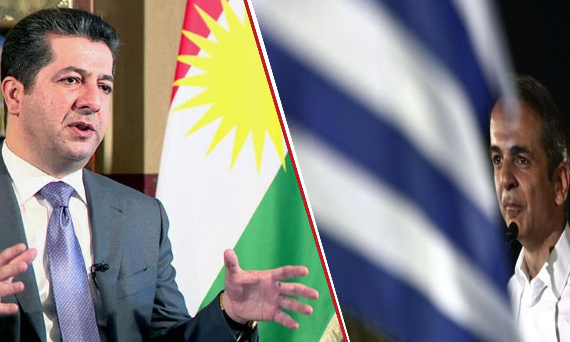 Başbakanlar Mesrur Barzani ve Kiryakos Miçotakis görüşmesi başladı Kurdistan, Yunanistan, Atina
