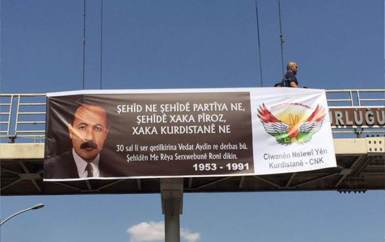 Kürdistan Ulusal Gençliği CNK Vedat Aydın'ı unutmadı Amed