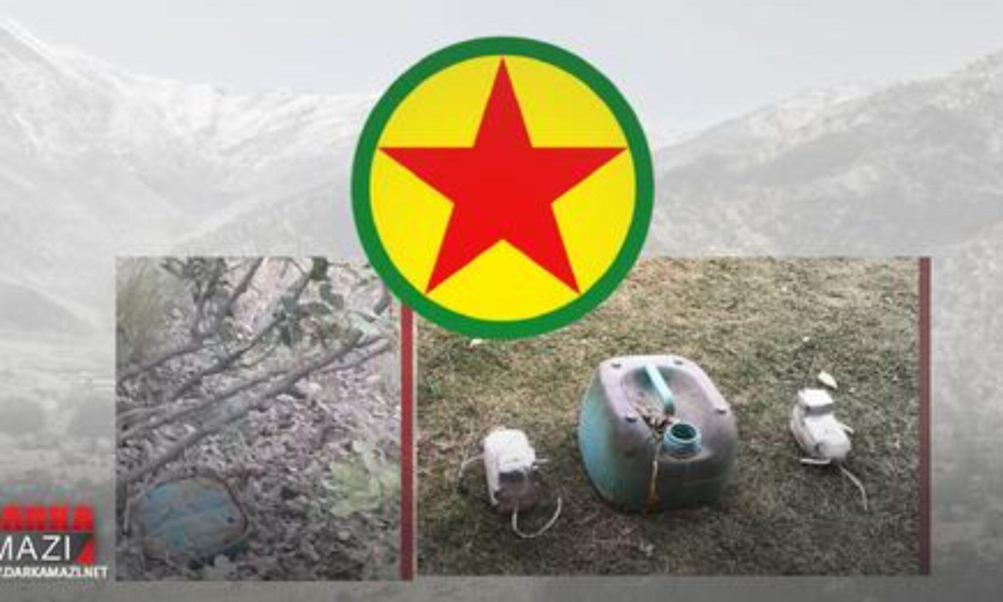 Peşmerge güçleri PKK'nin köy yoluna döşediği mayını etkisiz hale getirdi Kani Masi, Gunde Mayê Mayi köyü, Saddam, Sidekan