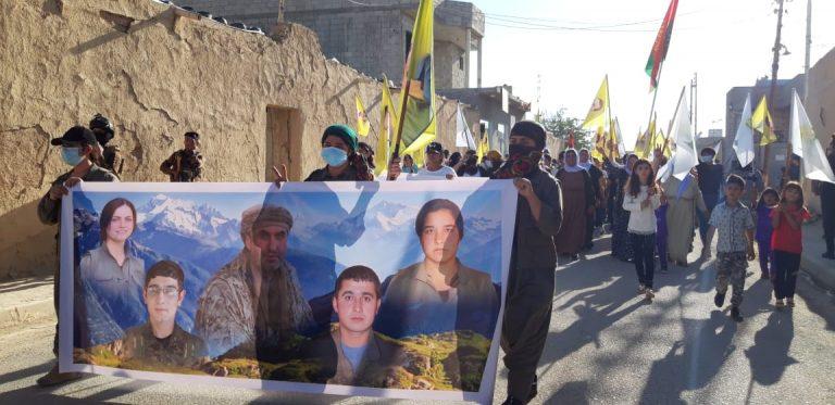 PKK Şengal'de gövde gösterisi yapmak istedi, halk mermilerin hedefi oldu Haşdi Şabi, Kürdistan Bölgesel Yönetimi, Türkiye devleti, gerilla, gençlik,