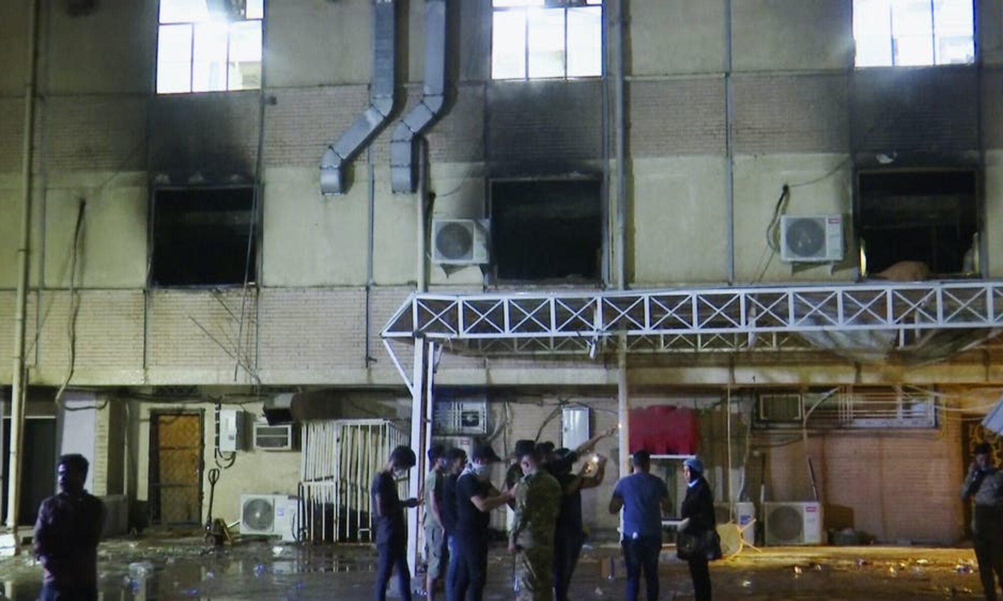 Irak'ın Zikar vilayeti Covid-19 hastanesinde yangın, 20 ölü