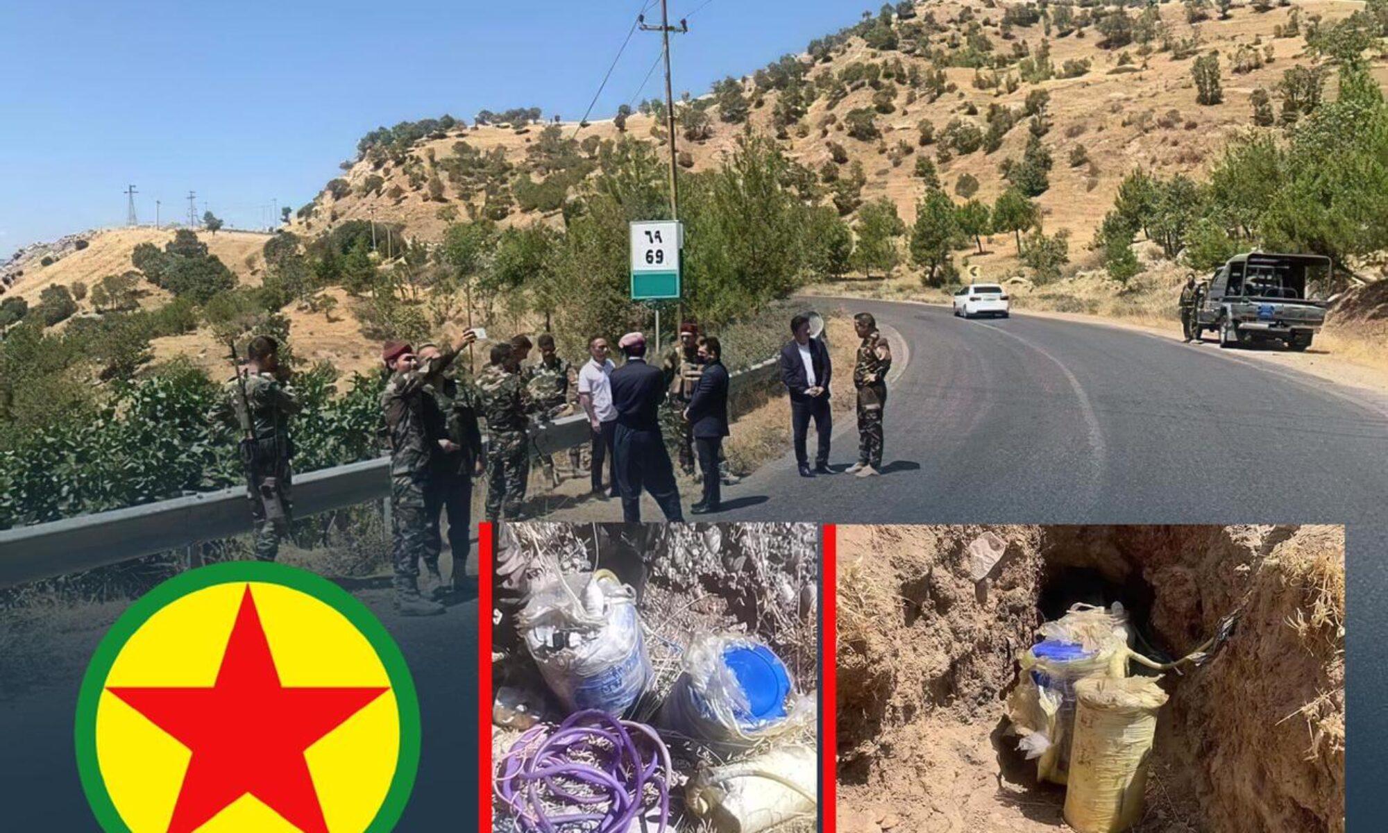 Peşmerge güçleri PKK'nin sivilllerin yoluna döşediği bir mayını daha imha etti Amediye, duhok, Deraluk, Mayın