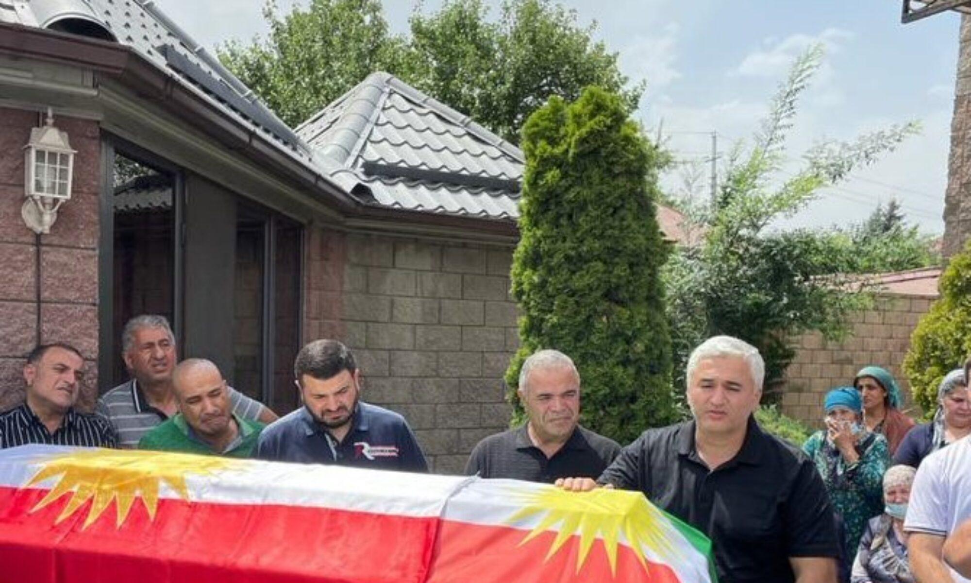 Kinyazê İbrahim Kazakistan'da Kürdistan bayrağı ile uğurlandı