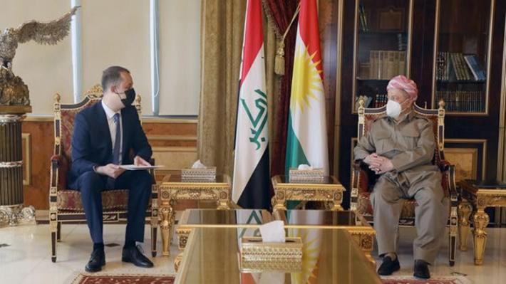 Macaristan Başbakanı'nın kutlama mesajını Barzani'ye Erbil konsolos yardımcısı iletti