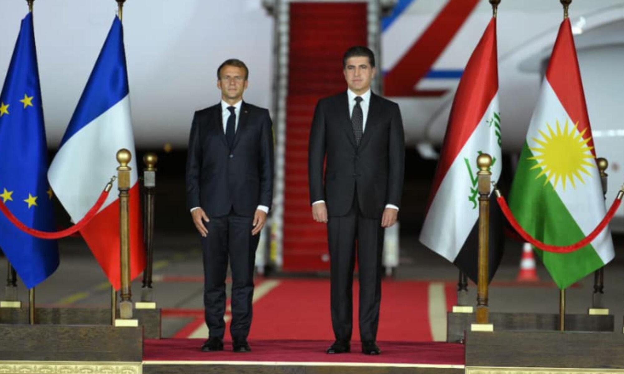 Macron Kürdistan Bölgesini ziyaret eden ikinci Fransız Cumhurbaşkanı