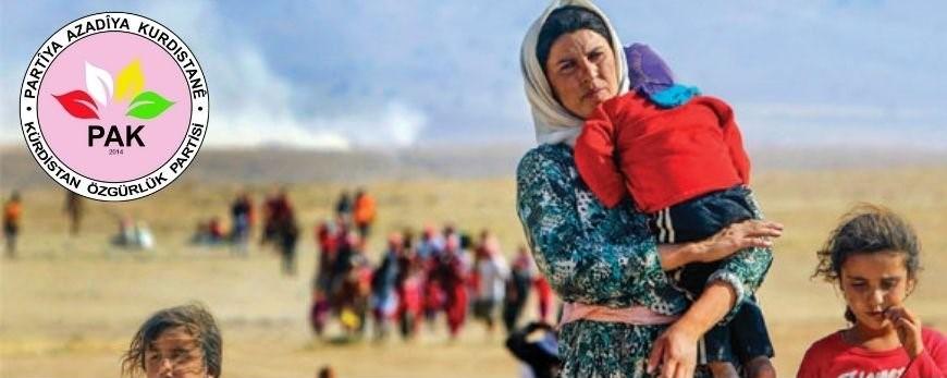 Şengal katliamının 7. yıldönümünde PAK: Katliamlara karşı kendimizi koruyabilecek siyasi, milli, coğrafi bir statü oluşturmak zorundayız.