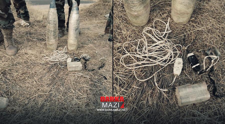 Yine PKK yine mayın: Sergelê yoluna döşenmiş 30 kg ağırlığında patlayıcı Peşmergeler tarafından imha edildi