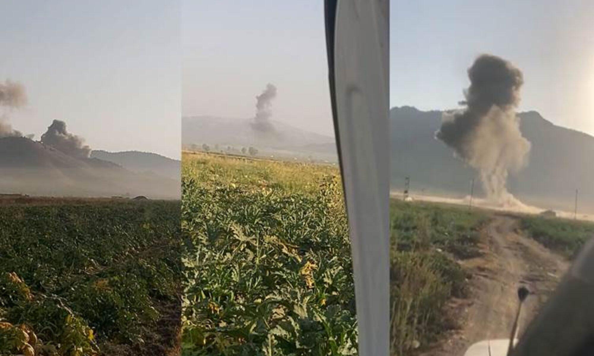 Süleymaniye'nin Pencwin ilçesi kırsalını savaş uçakları vurdu