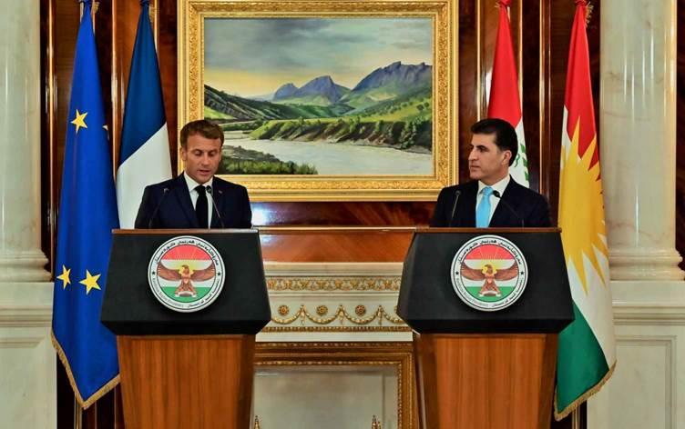 Macron ve Barzani'nin ortak basın açıklamasında önemli konular öne çıktı