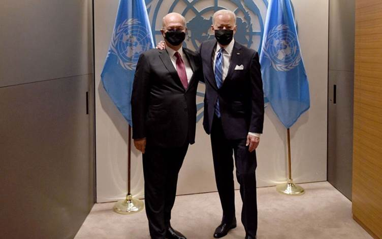 Joe Biden, Berhem Salih ile bir araya geldi