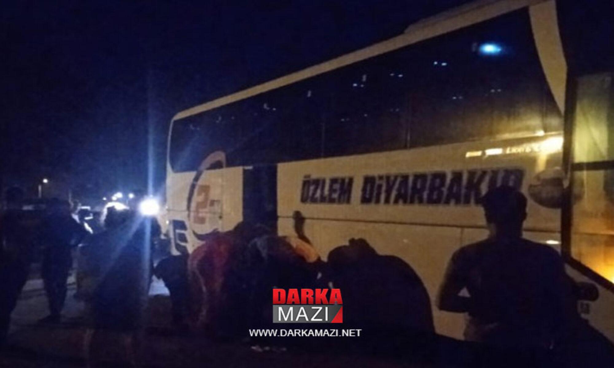 Antalya'dan Diyarbakır'a giden otobüse saldırı