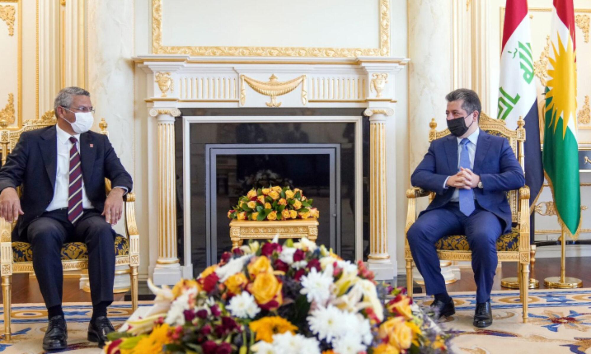 Başbakan Barzani CHP heyetini kabul etti
