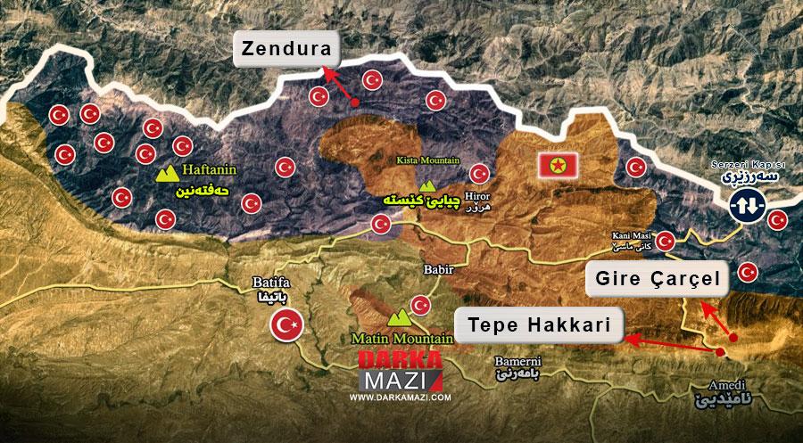 HPG açıklamasında ki büyük yalan neydi? Metina, Gare, Haftani, Amediye, Zendura, Gire çarçel, Hakkari tepesi, Keste kayalıkları, Zinare Keste, TSK; HPG PKK, Savaş tüneli