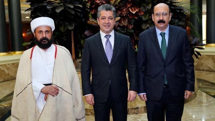 Ezidi liderler Başbakan Barzani'ye Ezidilere yapılan hizmetlerden dolayı teşekkür etti